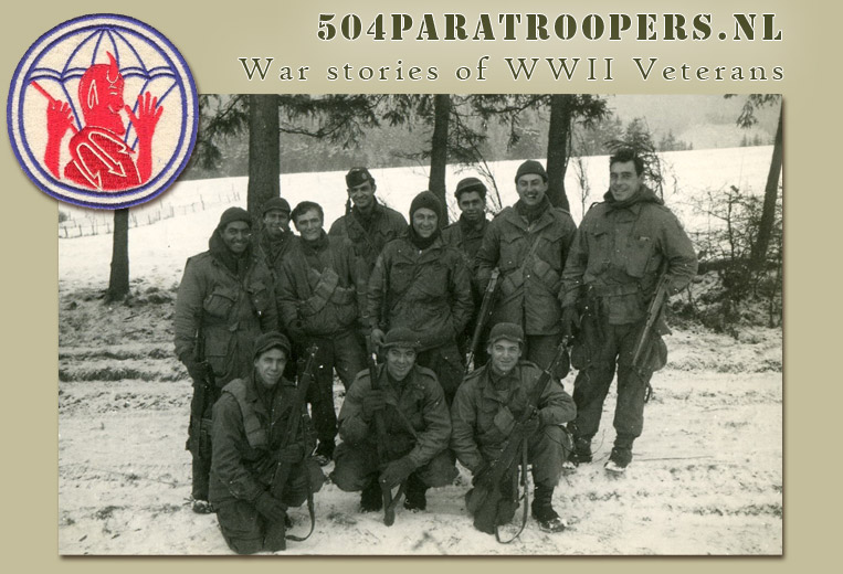 504 paratroopers.nl - War stories of WWII Vertarans - click here to enter